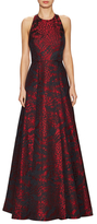 Alice + Olivia Teifer Leather T Maxi Gown