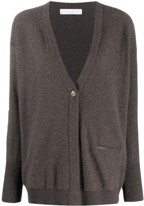 Fabiana Filippi Draped Long-Sleeve Cardigan