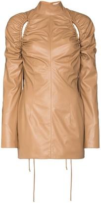 ALEKSANDRE AKHALKATSISHVILI Tassel Detail Cutout Mini Dress