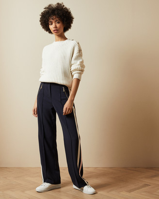 Ted Baker MAYBLE Side stripe wide leg trousers