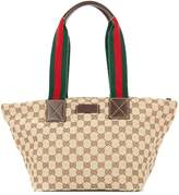Gucci Pre Owned Shelly Line GG Hand Tote Bag