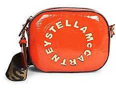 Stella McCartney Women's Logo Patent Camera Bag