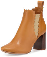 Chloé Scalloped Leather Chelsea Boot