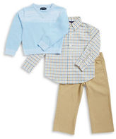 Nautica Boys 2-7 Logo Sweater, Sportshirt and Pants Set