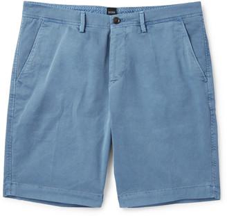 HUGO BOSS Slim-Fit Stretch-Cotton Twill Shorts