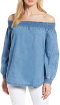 Caslon Chambray Off the Shoulder Top