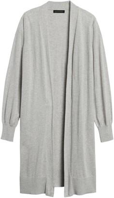 Banana Republic Silk Cotton Duster Cardigan Sweater