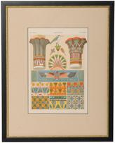 Rejuvenation Framed Egyptian Architectural Chromolithograph c1895