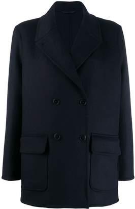 Closed oversize flap pocket jacket