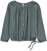 Numero 74 Naia Long Sleeve Blouse Grey blue