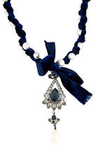 Lanvin Crystal & Faux Pearl Necklace