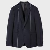 Paul Smith Men's Slim-Fit Navy Woven-Stripe Wool Blazer