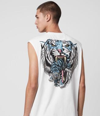 AllSaints Twin Tiger Sleeveless Crew T-Shirt