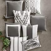 Williams-Sonoma Williams Sonoma Sunbrella Outdoor Solid Pillow Cover with Piping, Gray