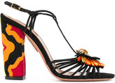 Aquazzura 'Samba' sandals - women - Raffia/Leather - 38