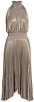 A.L.C. Women's Renzo Pleated Metallic Halter Dress - Size 0