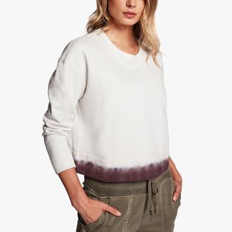 James Perse Dip Dyed Cropped Sweatshirt