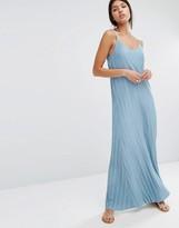 MANGO Pleated Maxi Dress