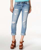 Dollhouse Juniors' Ripped Cuffed Cropped Jeans