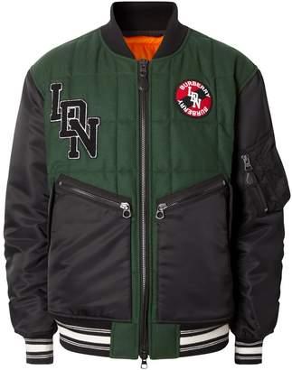 Burberry Wool Logo Bomber Jacket