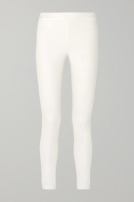 The Row Stratton Stretch Cotton-blend Leggings - White