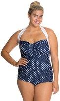 Girl Howdy Girlhowdy Plus Size Sandy Frock Halter One Piece Swimsuit 8118123