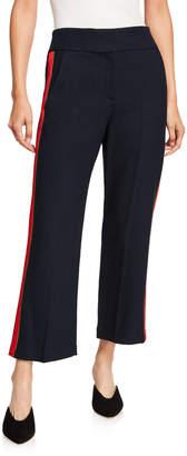 Veronica Beard Cormac Side-Stripe Trousers