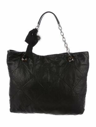Lanvin Amalia Cabas Leather Tote Black