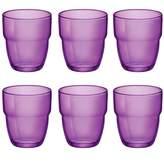 Bormioli Modulo Stacking Water / Juice Tumbler Glasses - 305ml - Purple - Set of 6