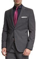 HUGO BOSS Johnstons Lennon Fine-Striped Slim-Fit Basic Two-Piece Suit, Gray