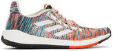 Missoni Adidas X adidas x White and Orange PulseBOOST HD Sneakers