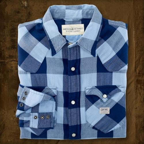 Denim & Supply Ralph Lauren Meeker Plaid Western Shirt