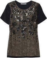 Jason Wu Embellished lace and jersey T-shirt