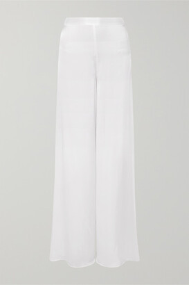 CAMI NYC The Tommy Silk-charmeuse Wide-leg Pants - White