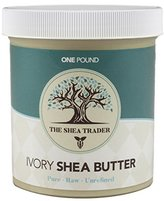 Shea Butter Raw African Unrefined Ivory 16 oz. Hydrating, Rejuvenating Body Butter. Use for soap, lotion, hand cream, hair and shampoo. 100% Natural from West Africa (Ghana).