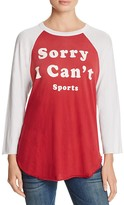 Wildfox Couture Sorry I Can't Raglan Tee