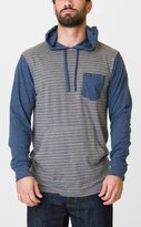 RVCA Men's Set Up Long Sleeve Hooded KniT-Shirt