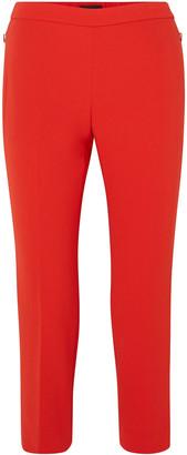 Theory Cropped Stretch-crepe Slim-leg Pants