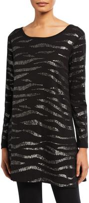Joan Vass Animal Sequined Tunic