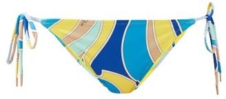 Emilio Pucci Quirimbas-print Side-tie Bikini Briefs - Blue Multi