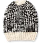 Ralph Lauren Slouchy Houndstooth Hat