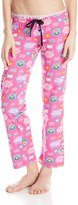 Paul Frank Women's Logo Printed Pajama Pants Pink