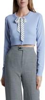 Altuzarra Merino-Cashmere Knit Tie-Neck Cardigan