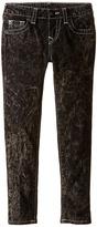 True Religion Casey Light Gray Single End Jeans in Blackout/Mineral Wash (Toddler/Little Kids)