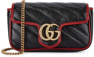 Gucci GG Marmont super mini leather cross-body bag