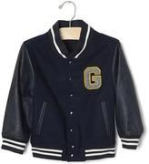 Gap Faux leather varsity jacket