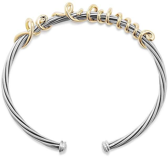 David Yurman DY Whispers Je T'aime Cuff Bracelet