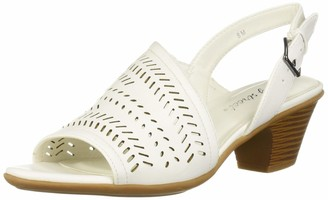 Easy Street Shoes Women's Goldie Dress Casual Sandal with Cutouts Heeled