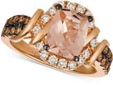 LeVian Le Vian Chocolatier Peach Morganite (1-1/2 ct. t.w.) & Diamond (5/8 ct. t.w.) Ring in 14k Rose Gold