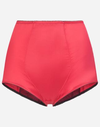 Dolce & Gabbana Satin High-Waisted Panties